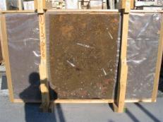 Fornitura lastre grezze lucide 2 cm in marmo naturale MARRON FOSSIL edi222mfxx. Dettaglio immagine fotografie