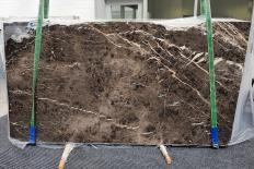 Fornitura lastre grezze lucide 2 cm in marmo naturale MARRON IRIS 1404. Dettaglio immagine fotografie