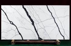 Fornitura lastre grezze lucide 2 cm in quarzo agglomerato artificiale MATERA V7005. Dettaglio immagine fotografie