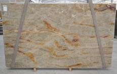 Fornitura lastre grezze lucide 3 cm in quarzite naturale NACARADO BQ01693. Dettaglio immagine fotografie