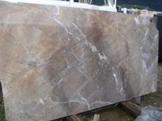 Fornitura lastre grezze lucide 2 cm in marmo naturale NOISETTE FLEURY EDM25119. Dettaglio immagine fotografie