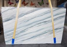 Fornitura lastre grezze lucide 2 cm in quarzite naturale ONDA BLUE AA T0100. Dettaglio immagine fotografie