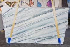Fornitura lastre lucide 2 cm in quarzite naturale ONDA BLUE AA T0100. Dettaglio immagine fotografie