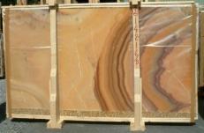 Fornitura lastre grezze lucide 2 cm in onice naturale ONICE ARCOIRIS E-14216/B. Dettaglio immagine fotografie