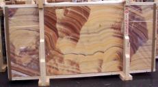 Fornitura lastre grezze lucide 2 cm in onice naturale ONICE ARCOIRIS E-14535. Dettaglio immagine fotografie