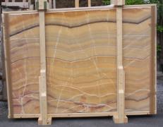 Fornitura lastre grezze lucide 2 cm in onice naturale ONICE ARCOIRIS E-OAI14742. Dettaglio immagine fotografie