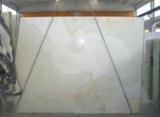 Fornitura lastre grezze lucide 2 cm in onice naturale ONICE BIANCO SR-2010119. Dettaglio immagine fotografie