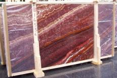 Fornitura lastre grezze levigate 2 cm in onice naturale ONICE PASSION E-14536. Dettaglio immagine fotografie