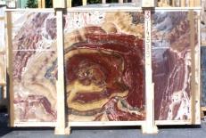 Fornitura lastre grezze lucide 2 cm in onice naturale ONYX MULTICOLOR E-14539. Dettaglio immagine fotografie