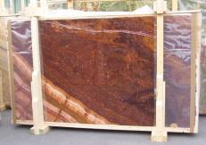 Fornitura lastre grezze lucide 2 cm in onice naturale ONYX RED EXTRA E-ORE14634. Dettaglio immagine fotografie