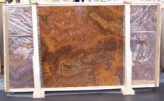 Fornitura lastre grezze lucide 2 cm in onice naturale ONYX RED E-OR14640. Dettaglio immagine fotografie