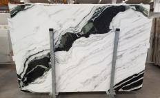 Fornitura lastre grezze lucide 2 cm in marmo naturale PANDA 1517M. Dettaglio immagine fotografie
