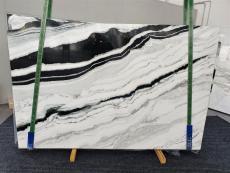 Fornitura lastre grezze lucide 2 cm in marmo naturale PANDA 1335. Dettaglio immagine fotografie