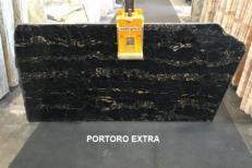 Fornitura lastre grezze lucide 2 cm in marmo naturale PORTORO EXTRA AA D0023. Dettaglio immagine fotografie