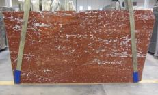 Fornitura lastre grezze lucide 2 cm in marmo naturale ROSSO FRANCIA 1007M. Dettaglio immagine fotografie