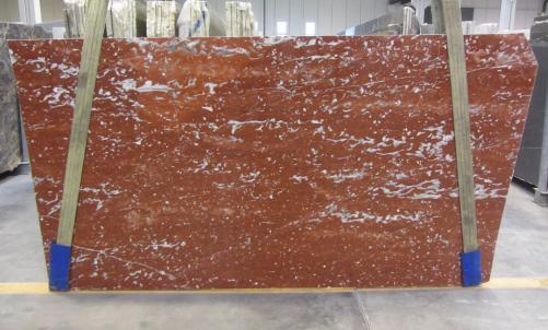 Fornitura lastre lucide 3 cm in marmo naturale ROSSO FRANCIA 1007M. Dettaglio immagine fotografie