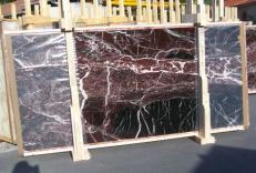 Fornitura lastre grezze lucide 2 cm in marmo naturale ROSSO LEVANTO E-14915. Dettaglio immagine fotografie