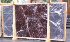 Fornitura lastre grezze lucide 2 cm in marmo naturale ROSSO LEVANTO E-10003. Dettaglio immagine fotografie