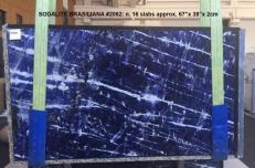 Fornitura lastre grezze lucide 2 cm in marmo naturale SODALITE AA 2062. Dettaglio immagine fotografie