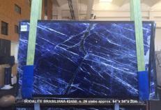 Fornitura lastre grezze lucide 2 cm in marmo naturale SODALITE AA 2458. Dettaglio immagine fotografie