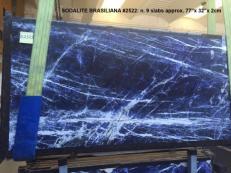 Fornitura lastre grezze lucide 2 cm in marmo naturale SODALITE AA 2522. Dettaglio immagine fotografie