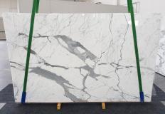 Fornitura lastre grezze lucide 2 cm in marmo naturale STATUARIO EXTRA 1249. Dettaglio immagine fotografie