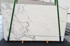 Fornitura lastre grezze levigate 2 cm in marmo naturale STATUARIO EXTRA 1288. Dettaglio immagine fotografie