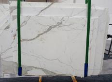 Fornitura lastre grezze segate 0.8 cm in marmo naturale STATUARIO EXTRA 1273. Dettaglio immagine fotografie
