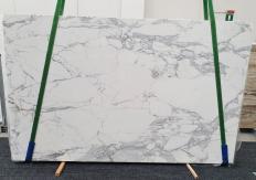 Fornitura lastre grezze lucide 2 cm in marmo naturale STATUARIO EXTRA 1437. Dettaglio immagine fotografie