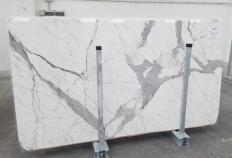 Fornitura lastre grezze lucide 2 cm in marmo naturale STATUARIO VENATO 1258. Dettaglio immagine fotografie