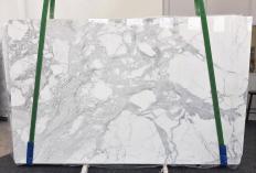 Fornitura lastre grezze lucide 3 cm in marmo naturale STATUARIO VENATO 1187. Dettaglio immagine fotografie