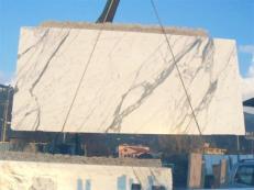 Fornitura lastre grezze lucide 2 cm in marmo naturale STATUARIO VENATO E_1442. Dettaglio immagine fotografie