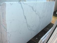 Fornitura lastre grezze lucide 2 cm in marmo naturale STATUARIO VENATO E-1203. Dettaglio immagine fotografie