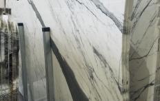 Fornitura lastre grezze lucide 2 cm in marmo naturale STATUARIO VENATO Z0333. Dettaglio immagine fotografie