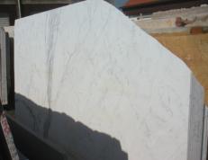 Fornitura lastre grezze lucide 2 cm in marmo naturale STATUARIO VENATO EM_0246. Dettaglio immagine fotografie