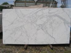 Fornitura lastre grezze lucide 2 cm in marmo naturale STATUARIO VENATO E-8074. Dettaglio immagine fotografie