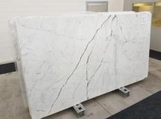 Fornitura lastre grezze lucide 2 cm in marmo naturale STATUARIO VENATO GL 1109. Dettaglio immagine fotografie