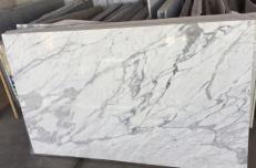 Fornitura lastre grezze lucide 3 cm in marmo naturale STATUARIO VENATO #1408. Dettaglio immagine fotografie