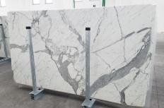 Fornitura lastre lucide 2 cm in marmo naturale STATUARIO VENATO 1258. Dettaglio immagine fotografie