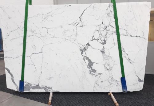 Fornitura lastre grezze lucide 2 cm in marmo naturale STATUARIO GL 979. Dettaglio immagine fotografie