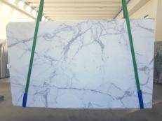 Fornitura lastre grezze lucide 2 cm in marmo naturale STATUARIO GL 1111. Dettaglio immagine fotografie