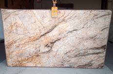 Fornitura lastre grezze lucide 2 cm in quarzite naturale TEMPEST CRISTALLO A0111. Dettaglio immagine fotografie