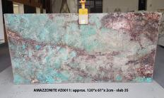 AMAZZONITE Supply (Italy) polished slabs Z0011 , Slab #35 natural semi precious stone