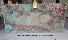 AMAZZONITE Fornitura (Italia) di lastre grezze lucide in pietra semipreziosa naturale Z0011 , Slab #01