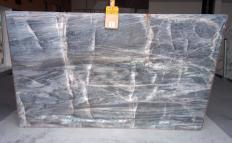 BRITA BLUE Supply (Italy) polished slabs Z0359 , Slab #01 natural quartzite