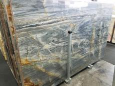 BRITA BLUE Supply (Italy) polished slabs Z0359 , Slab #24 natural quartzite