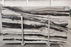 PANDA GREY Fornitura (Italia) di lastre grezze lucide in marmo naturale D-7130 , SL3CM