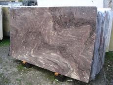 Fornitura lastre grezze lucide 2 cm in marmo naturale THALIA BROWN EDM25134. Dettaglio immagine fotografie