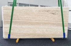 Fornitura lastre grezze levigate 2 cm in travertino naturale TRAVERTINO ALABASTRIN0 1309. Dettaglio immagine fotografie