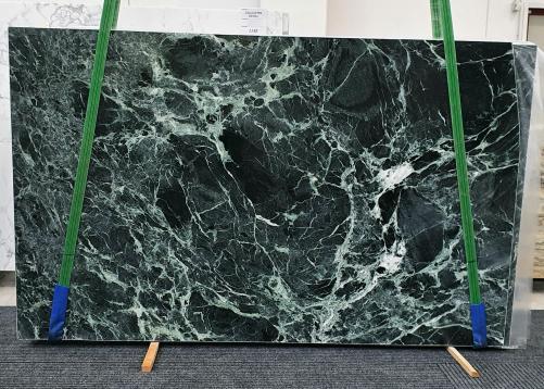 Fornitura lastre grezze lucide 2 cm in marmo naturale VERDE ALPI 1439. Dettaglio immagine fotografie